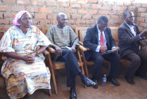 L-R. Anywar, Otunnu, Mao and Olanya