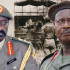 Gen. David Tinyefuza (R), Gen Yuweri Museveni (L)