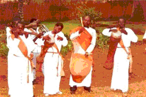 Royal drummers of the Luo-originated Bunyoro-Kitara Kingdom