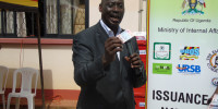 Aronda Nyakairima, Internal Affairs Minister Speaking during launch of national ID card in Gulu district recently