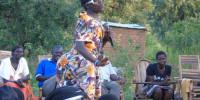 Banana Joe' performing at Ajuri village, Omoro County in Gulu district on Saturday