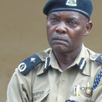 Wilson Kwanya, the Regional Police Commander (RPC) in-charge of Aswa region speaking on Tuesday in Gulu town