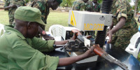 UPDF weapon experts Engrave AK47 rifle at 4th Division Army Headquarters in April this year as part of best Practices to guard it against leakages