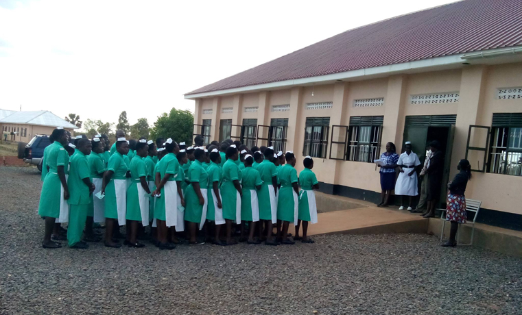 Some of the Students of Gulu school of nursing and midwifery