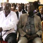 Aswa MP Regan Okumu and Ambassadore David Mwaka attending the 50 years of Jubilee of BankOf Uganda, photo by Claude Omona